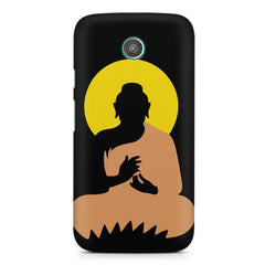 Gautam Buddha   design,  Moto E printed back cover