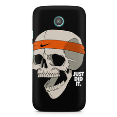 Skull Funny Just Did It !  design,  Moto G printed back cover