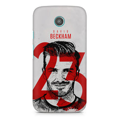 David Beckhan 23 Real Madrid design,  Moto E printed back cover