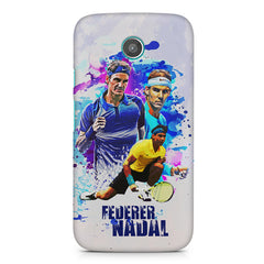 Federer and Nadal Oil Fanart design,  Moto E printed back cover