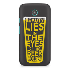 Beer Lovers Perfect Case Design design,  Moto E printed back cover