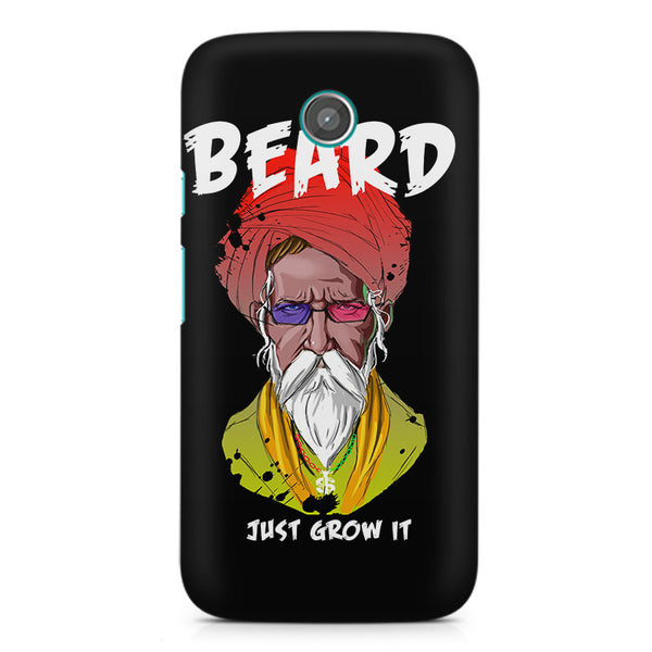 Beard Just Grow It design, Moto X printed back cover