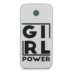 Girl power deisgn Moto E printed back cover