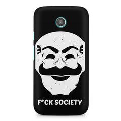 Fuck society design Moto G printed back cover