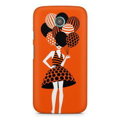 Girl and the balloons design, Moto E printed back cover