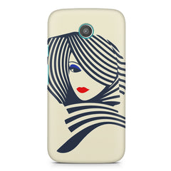 Fashionable girly design Moto E printed back cover