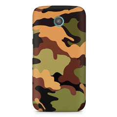 Camoflauge design Moto E printed back cover