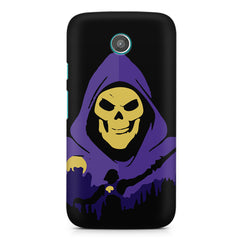 Evil looking skull design Moto E printed back cover