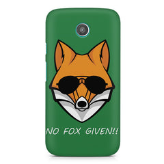 No fox given design Moto G printed back cover