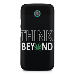 Think beyond weed design Moto G printed back cover