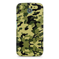 Camoflauge army color design Moto E printed back cover