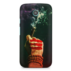 Smoke weed (chillam) design Moto G printed back cover