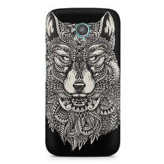 Fox illustration design Moto E printed back cover