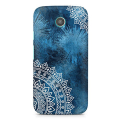 A Vivid Blue ethnic yet cool pattern moto X hard plastic printed back cover