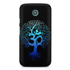 A beautiful blue tree with Om inscribed moto X hard plastic printed back cover
