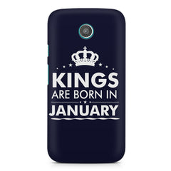 Kings are born in January design    Moto G2 hard plastic printed back cover