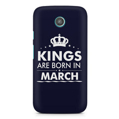 Kings are born in March design    Moto G2 hard plastic printed back cover
