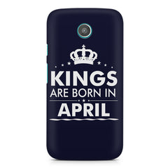 Kings are born in April design    Moto G2 hard plastic printed back cover