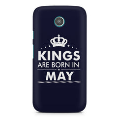 Kings are born in May design    Moto G2 hard plastic printed back cover