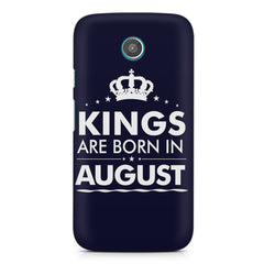 Kings are born in August design    Moto G2 hard plastic printed back cover