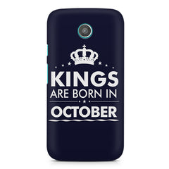 Kings are born in October design    Moto G2 hard plastic printed back cover