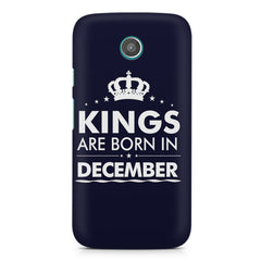 Kings are born in December design    Moto G2 hard plastic printed back cover