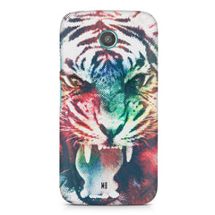 Tiger with a ferocious look Moto G2 hard plastic printed back cover