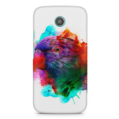 Colourful parrot design Moto G2 hard plastic printed back cover