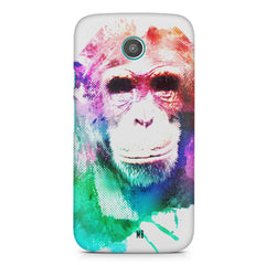 Colourful Monkey portrait Moto G2 hard plastic printed back cover