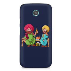 Punjabi sardars with chicken and beer avatar Moto G2 hard plastic printed back cover