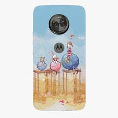 In the wonderland design Moto X4 hard plastic printed back cover