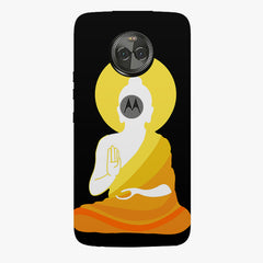 Buddha abstract painting    Moto X4 hard plastic printed back cover