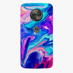 Colours spill design    Moto X4 hard plastic printed back cover