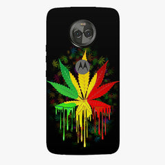 Marijuana colour dripping design    Moto X4 hard plastic printed back cover