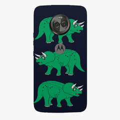Stegosaurus cartoon design Moto X4 hard plastic printed back cover