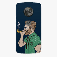 Man smoking cigar Moto X4 hard plastic printed back cover