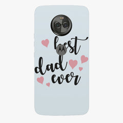 Best Dad Ever Design Moto X4 hard plastic printed back cover