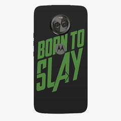 Born to Slay Design Moto X4 hard plastic printed back cover