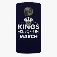 Kings are born in March design    Moto X4 hard plastic printed back cover