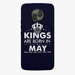 Kings are born in May design    Moto X4 hard plastic printed back cover