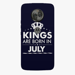 Kings are born in July design    Moto X4 hard plastic printed back cover