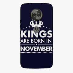 Kings are born in November design    Moto X4 hard plastic printed back cover