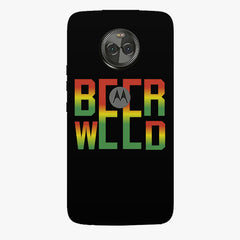 Beer Weed Moto X4 hard plastic printed back cover