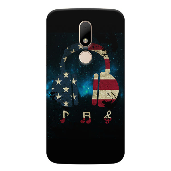 America tunes Blue sprayed Moto M printed back cover