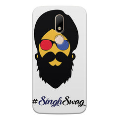 Singh Swag Punjabi with Beard design, Moto M printed back cover
