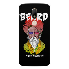 Beard Just Grow It design, Moto M printed back cover