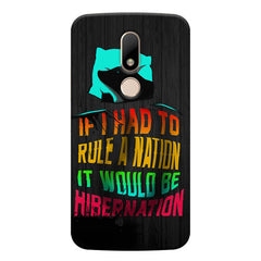 Sleep Lovers Quotes design, Moto M printed back cover