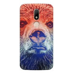 Zoomed Bear Design  Moto M hard plastic printed back cover