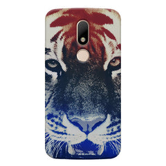 Pixel Tiger Design Moto M hard plastic printed back cover