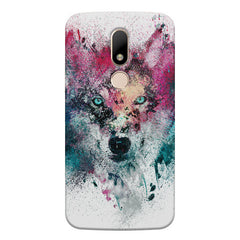 Splashed colours Wolf Design Moto M hard plastic printed back cover